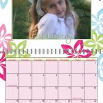 Preppy Spiral Calendar for 2014
