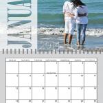 Transparent Spiral Calendar for 2014