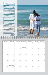 Transparent Months Spiral Calendar for 2013