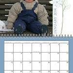 Floral Spiral Calendar for 2014