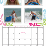 Preppy 11x17 Simplex Calendar for 2014