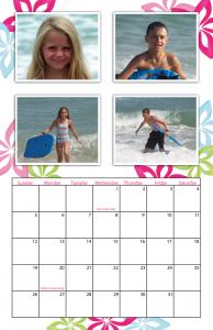 Preppy 11×17 Simplex Calendar for 2014